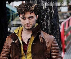 «هری پاتر» با شاخ روی سر جلوی دوربین رفت