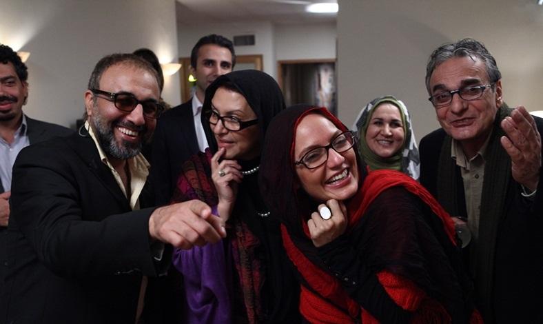 """رضا عطاران، حامد بهداد، مهناز افشار و داریوش مهرجویی در صحنه و پشت صحنه """"چه خوبه که برگشتی"""""""