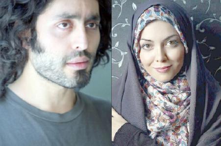 آزاده نامداری و برادر گلشیفته فراهانی در زعفرانیه