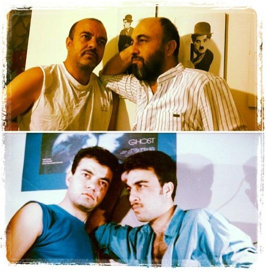 بازسازی یک عکس پس از ۲۲ سال/ رضا عطاران و سعید آقاخانی باردیگر در کنار هم
